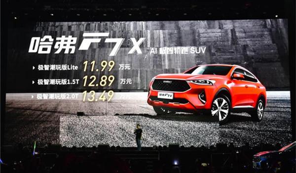 哈弗F7八月销量 2019年8月销量10036辆(销量排名第22) 哈弗F7八月销量 2019年8月销量10036辆(销量排名第22) SUV车型销量 第4张