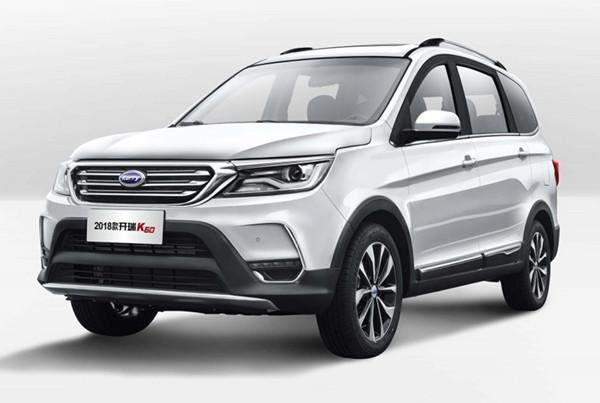 开瑞K60六月销量 2019年6月销量937辆(销量排名第152) 开瑞K60六月销量 2019年6月销量937辆(销量排名第152) SUV车型销量 第2张