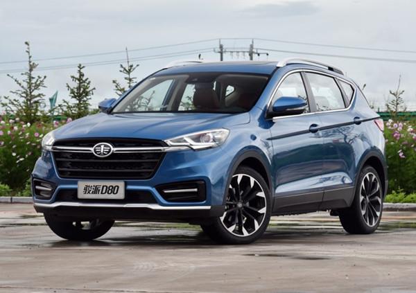 一汽骏派D80六月销量 2019年6月销量84辆(销量排名第238) 一汽骏派D80六月销量 2019年6月销量84辆(销量排名第238) SUV车型销量 第1张